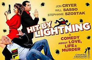 Hit by Lightning - Film's banner poster at the Just For Laughs Festival