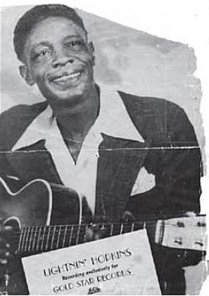 Lightnin' Hopkins - Gold Star promotional photograph, 1948