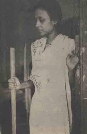 1950 East Pakistan riots - Ila Mitra at Dhaka Medical College (1954)