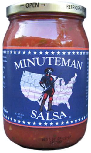Minuteman Salsa - Jar of Minuteman salsa