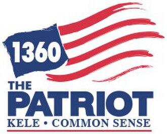 KELE (AM) - Image: KELE 1360The Patriot logo