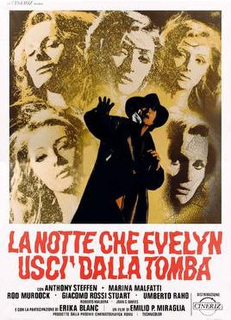 The Night Evelyn Came Out of the Grave - Italian theatrical release poster