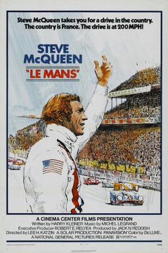 Le Mans (film) - Theatrical release poster by Tom Jung
