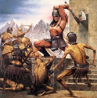 Les Edwards - Edwards' Conan the Rebel, later used as the cover of White Dwarf magazine issue 107.