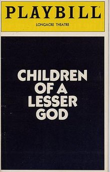 Children Of A Lesser God LesserGodPlaybill
