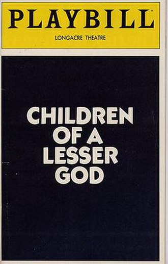Children of a Lesser God (play) - Playbill from the original Broadway production