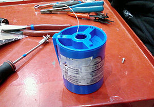 "Safety wire - A one-pound spool of 0.020"" stainless steel safety wire."