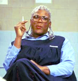 Madea - Madea serving time in prison for committing a series of crimes in Madea Goes to Jail