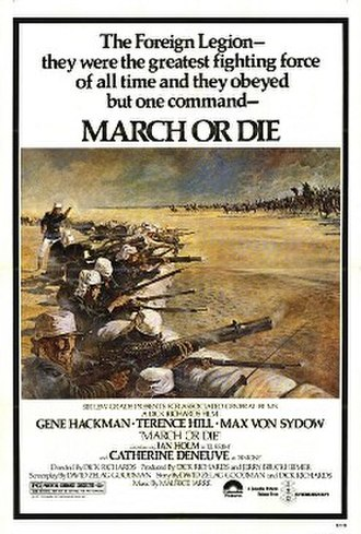 March or Die (film) - Theatrical release poster by Tom Jung