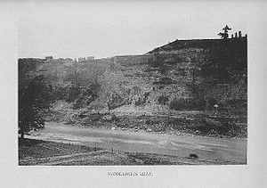 McColloch's Leap - An early photo of McColloch's Leap