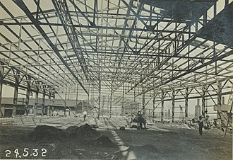 Fishermen's Wharf Market - McLaren Wharf being redeveloped in 1930's with the large wharf sheds being built. Shed 1 is the last remaining Wharf Shed in Port Adelaide's inner harbour.