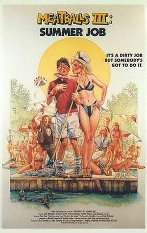 Meatballs III: Summer Job - Theatrical release poster