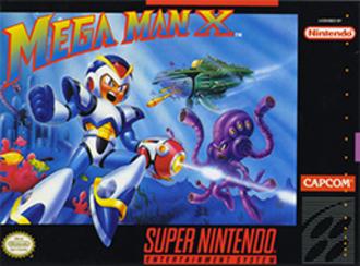 Mega Man X (video game) - North American SNES cover art