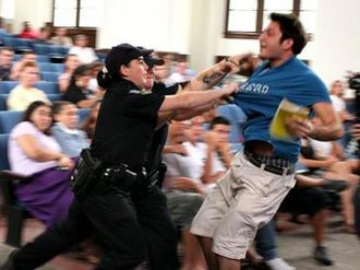 University of Florida Taser incident - University of Florida police attempt to force Andrew Meyer out of the auditorium.