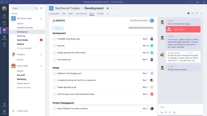 Microsoft Teams' channel tab, as seen on Microsoft Windows application
