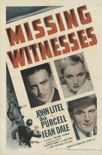 Missing Witnesses - Theatrical release poster