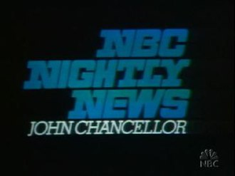 NBC Nightly News - NBC Nightly News title card, used from 1972 to 1975.