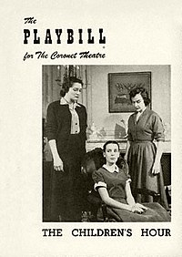 Playbill Cover for The Children's Hour at Coronet Theatre.jpg