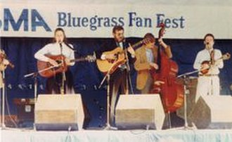 Gary Jeshel Forrester - The Rank Strangers at the IBMA Bluegrass Fan Fest in Kentucky, 1990. Filling in on bass is Alison Krauss's bass player and songwriter Jon Pennell.
