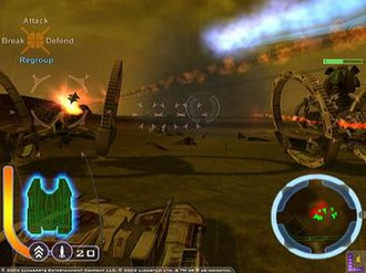 Star Wars: The Clone Wars (2002 video game) - The battle of Raxus Prime
