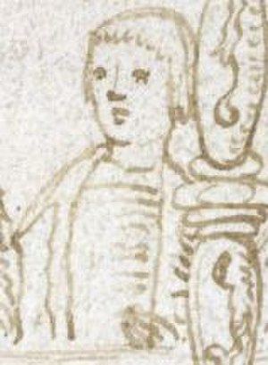 Richard Weston (treasurer) - Sir Richard Weston, (representative image, not portrait) drawn by Sir Thomas Wriothesley in 1509, attending deathbed of King Henry VII. (Detail from: British Library Additional MS 45131, folio 54)
