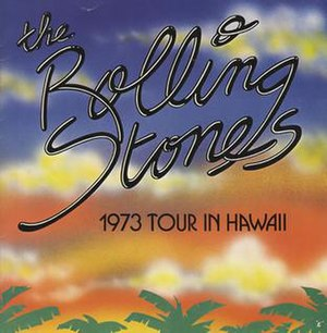 The Rolling Stones Pacific Tour 1973 - Tour booklet cover for Hawaii shows.