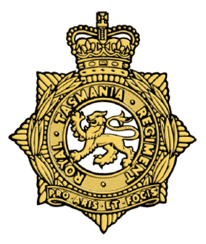 Royal Tasmania Regiment - Cap badge of the Royal Tasmania Regiment