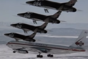 Skyjacked (film) - The Soviet interception of the hijacked Boeing 707 was the penultimate climactic scene in Skyjacked.