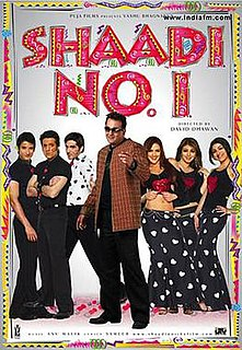 <i>Shaadi No. 1</i> 2005 film by David Dhawan