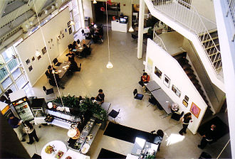 School of the Museum of Fine Arts at Tufts - The Weems Center, part of Graham Gund's expansion, looking down from the third floor