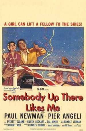 Somebody Up There Likes Me (1956 film) - Theatrical release poster