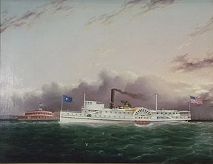 James E. Buttersworth - Image: Steamboat escort off the battery