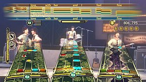 The Beatles: Rock Band - Image: Tbrb gamescreen