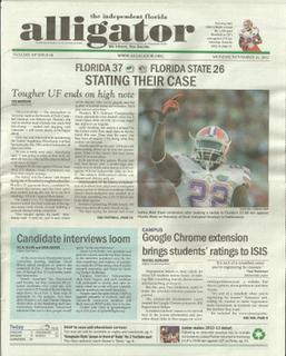 <i>The Independent Florida Alligator</i> newspaper in Gainesville, Florida