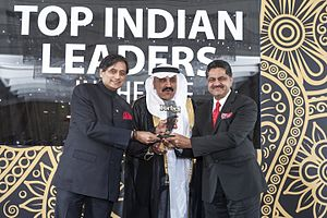 Thumbay Moideen - Image: Thumbay Moideen Receiving Forbes Award
