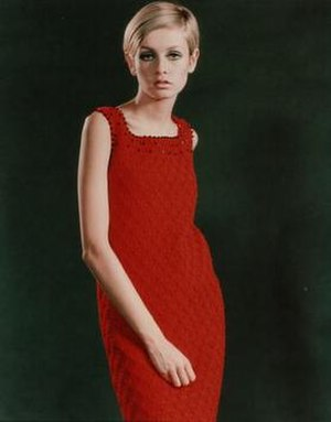 Twiggy in 1967, at the height of her modelling...