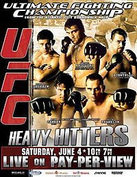 A poster or logo for UFC 53: Heavy Hitters.