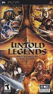 <i>Untold Legends: Brotherhood of the Blade</i> 2005 video game