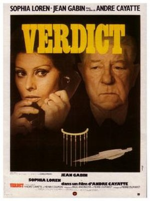 Verdict (film) - French film poster