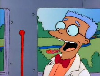 """Waylon Smithers - Smithers' initial (and only) appearance with a dark complexion, as seen in """"Homer's Odyssey"""""""
