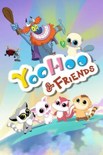 YooHoo & Friends (2012 TV series) - The main characters from left to right: Father Time and YooHoo (on the top), Leemee, Pammee, Chewoo, and Roodee (on the bottom).