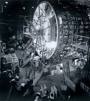 "The ""centrifuge"" set used for filmin..."