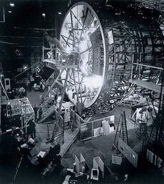 "2001: A Space Odyssey (film) - The ""centrifuge"" set used for filming scenes depicting interior of the spaceship Discovery"