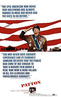 <i>Patton</i> (film) 1970 American biographical war film directed by Franklin J. Schaffner