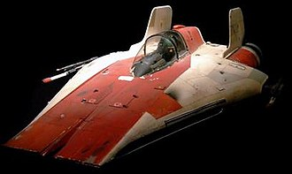 A-wing - An A-wing filming model used for Return of the Jedi