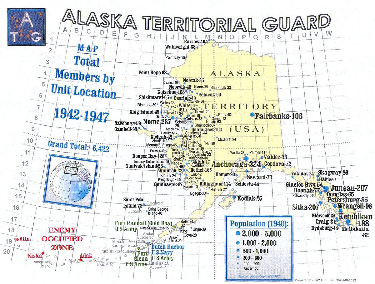 Alaska Territorial Guard Wikipedia - Us military base locations map