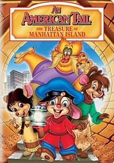 <i>An American Tail: The Treasure of Manhattan Island</i> 1998 animated film directed by Larry Latham