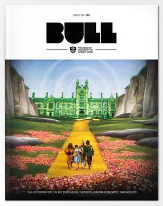 BULL (student magazine) - Front cover of Edition 1, 2014