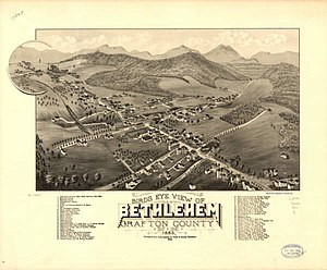 Bethlehem, New Hampshire - Panoramic Map of Bethlehem in 1883