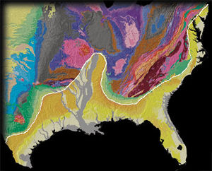 Geologic map of Georgia (U.S. state) - The Coastal Plain of the U.S.
